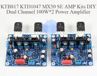 KTB817 KTD1047 MX50 SE AMP Dual Channel 100W*2 Power Amplifier Stereo Kits DIY
