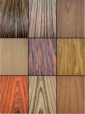 Wood Veneer Ebony Oak Zebra Walnut Olive Sandal Rosewood Maple Teak Wenge Cherry