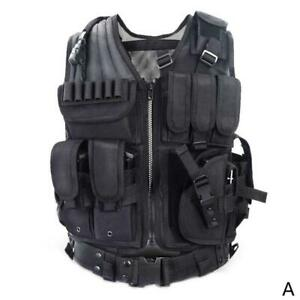 Adjustable Tactical Military Airsoft Molle Combat Army Plate Carrier Vest UK