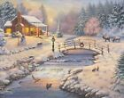 Thomas Kinkade Studios Christmas at the Cabin 11 x 14 Art Print  <br/> eBay Holiday Exclusive Release - Only On eBay!