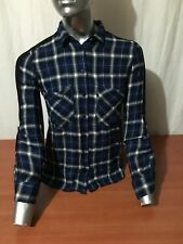 CAMICIA GUESS MAGLIA SWEATSHIRT SHIRT DONNA WOMAN BLU BLUE G-73
