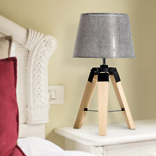 HOMCOM Tripod Table Lamp Living Room Night Lighting Bedside Desk D¨¦cor