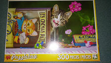 Tabby in a Tin of Cat Food 300 piece Puzzlebug Jigsaw Puzzle! NIB!