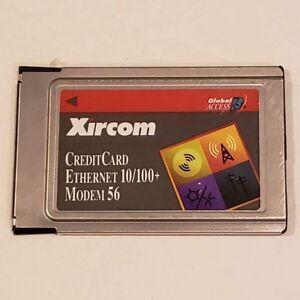Xircom CreditCard Ethernet 10/100+ Modem 56 PCMCIA Card CEM56-100 No Cable