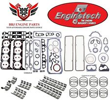 ENGINETECH CHEVY SBC 350 5.7 RE RING REBUILD KIT WITH MAIN BEARINGS 1986-1995