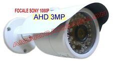 TELECAMERA AHD INFRAROSSI 48LED ESTERNO 3MP FOCALE SONY 1080P VIDEOSORVEGLIANZA