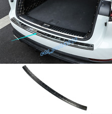 Black titanium Rear Bumper Guard Sill Plate For Porsche Cayenne 2018-2019