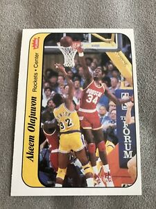 1986-87 FLEER AKEEM OLAJUWON ROOKIE STICKER #9 FRESH FROM SEALED BOX!!!