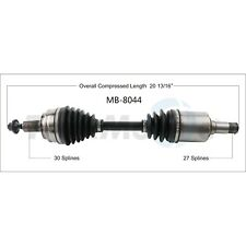 CV Axle Shaft-New Front Right SurTrack MB-8044