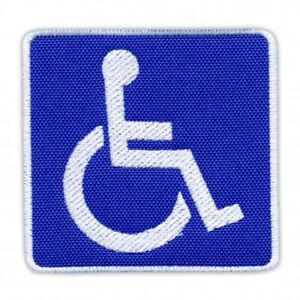 Disabled Sign Embroidered PATCH/BADGE
