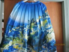 Chicwish Satin Ny Pleated Full Lined Midi Skirt Blues City Vintage Silky size M