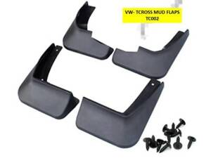 VW T-CROSS FRONT AND REAR MUD FLAP SET - (WILLNOTE FIT THE T-CROSS 'R') - TC002