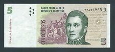F.C. ARGENTINA , 5 PESOS 2003 , MBC- ( VF ) , SERIE D , P.353 .