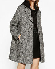 ZARA OVERSIZED WOLLE MANTEL WOLLMANTEL JACKE WOOL BOUCLÉ COAT JACKET SIZE L XL