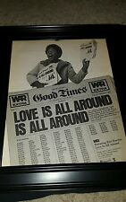 WAR Love Is All Around Rare Original Promo Poster Ad Framed!