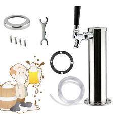 Single Faucet 3 Draft Beer Tower Stainless Steel Homebrew Beer Kegerator Chrome