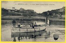 cpa 22 - BRÉHAT La Vedette JEANNE d'ARC Bateau de Passage arrivant au PORT CLOS