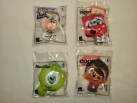 McDonalds Happy Meal Toy Disney Pixar Plush Lot of 4 Pcs Toy Story, Cars, Coco