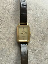 Vintage OMEGA De Ville Gold Plated Mechanical Rectangle Ladie`s Watch 1070 D-3