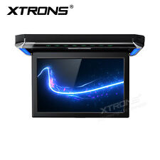 """Black 12.1"""" Flip Down Car Roof Mounted Overhead Monitor /HDMI/USB/SD/Games 1080P"""
