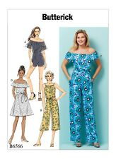 Butterick Sewing Pattern B6566 6566 Misses Dress Romper Jumpsuit Size Lrg-xxl