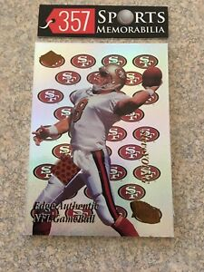 1998 COLLECTORS EDGE FURY STEVE YOUNG NFL GAME USED BALL HOF SAN FRANCISCO 49ERS