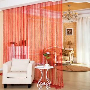 Door String Curtain, Wall Panel Fringe Window Room Divider Blind, Home Patio Bed