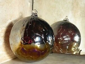 Hanging Glass Ball 31.5 cms Circumference Mauve Witch Ball/Bauble