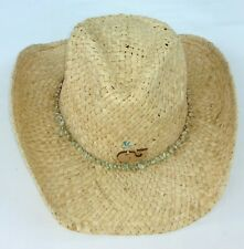 b32c1bebb73 Conner Sea Friends Kids Western Hat One Size Maize Natural Ivory Whale Beads