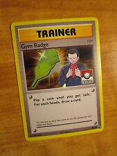 NM LEAGUE Pokemon GIOVANNI'S GYM BADGE Card BLACK STAR Promo Set XY210 Trainer