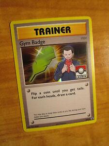 NM LEAGUE Pokemon GIOVANNI'S GYM BADGE Card BLACK STAR PROMO Trainer XY210 Holo