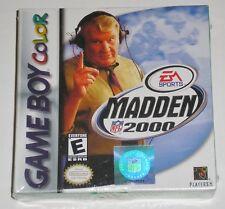 Madden NFL 2000 (Nintendo Game Boy Color, 1999) NEW box damaged