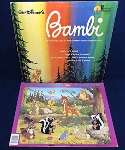 Walt Disney's BAMBI Jaymar Tray Puzzle & Near Mint VINYL Record 1963 Disneyland