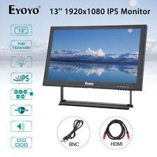 EYOYO 13'' 1920x1080 AV VGA BNC HDMI IPS Monitor For Camera Laptop DVR CCD CCTV
