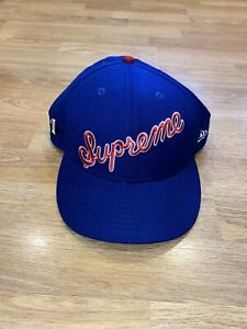 Supreme New Era 7 5/8 Blue Mens Hat