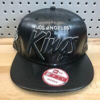 Los Angeles Kings NHL Hockey New Era 9FIFTY SnapBack Cap EUC Black PU Hat RARE!
