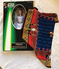 Star Wars Princess Leia barbie style doll 1999 Portrait + Queen Amidala scarf!