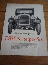 ESSEX SUPER SIX 1928  CAR BROCHURE   jm
