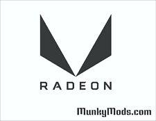 AMD Radeon Vega Logo Computer Case Window Applique Vinyl Decal (Color Choices)