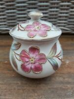 Vintage Floral Ceramic Trinket Pot With Lid