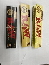 3 Packs Raw Black King Size Slim Rolling Papers Gold Letter Packs! Usa Shipped