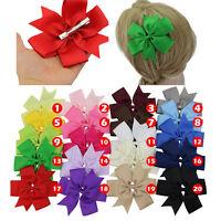 "1pcs Huge 5"" Boutique Pinwheel Baby Girls Toddler Hair Bow Clip Headband Fashion"