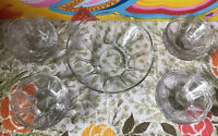MCM Retro Vintage Glass 12 Berry Dessert Garden Party 1 Serving Bowl Master Lot