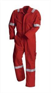 Redwing 61712 Flame Retardant Hi Viz Vis Coverall - Boilersuit Anti-Static Red