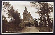 CRATHIE CHURCH Balmoral POSTCARD Valentine's POSTED 1934 Aberdeenshire 296