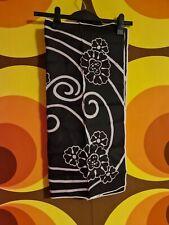Vintage Retro Pinup Head Scarf 70's Brown Flower Swirl Design