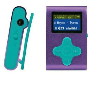 """Eclipse Fit Clip MP3 Player, 4GB, 1"""" Display, Purple, Brand New Sealed"""