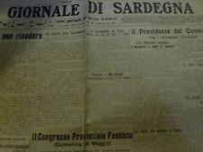 1924 GIORNALE di SARDEGNA - Velodromo Pirri Borore Quartucciu Cagliari Minatori