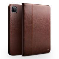 QIALINO Echtleder Smart Cover Flip Case Schutzhülle für iPad Pro 12,9 2020 Braun