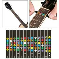 1*Guitar Scale Name Stickers Electric Guitar Beginner Guitar 2020 Y2E8